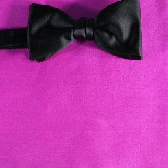Pochette De Costume Mou Choir Rose Vif Uni Couleur Dessin