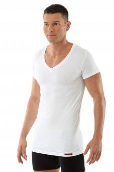 Maillot de corps blanc col v manche cou rtes en micro modal  L