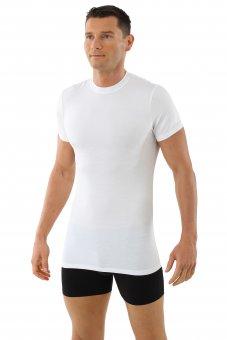 Maillot de corps blanc col rond manches cou rtes en micro modal