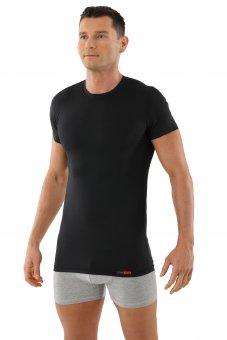 Maillot de corps noir col rond manches cou rtes coton-coolmax anti transpiration M