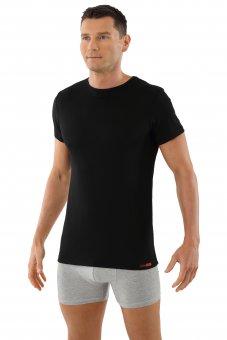 Maillot de corps laine mérinos tee-shirt col rond noir