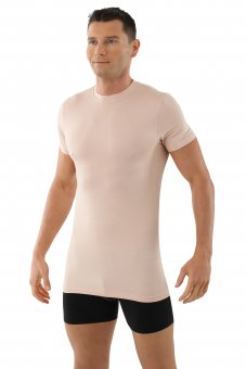Maillot de corps invisible manches courtes col rond en micromodal M