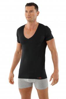 Maillot de corps invisible grand col v manches cou rtes coton-coolmax anti transpiration XL