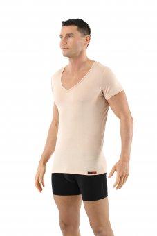 Maillot de corps laine mérinos invisible tee-shirt grand col v S