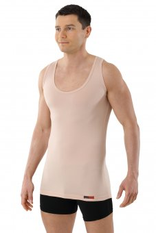Débardeur invisible Marcel grand col en coton stretch  XL