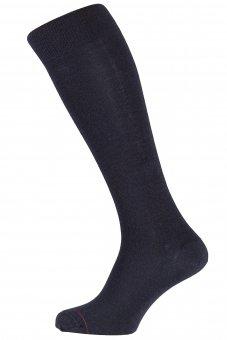 Chaussettes mis-bas noirs hiver Thermocool en laine mérinos et coolmax