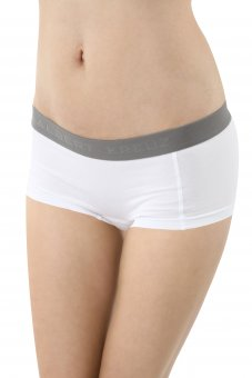 Shorty boxer femme en coton stretch blanc