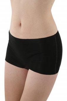 Lot de 3 Shorty boxer sans coutures clean cut en coton stretch couleur noir