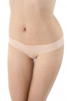 Lot de 3 Tanga invisible sans coutures clean cut en coton stretch couleur chair beige