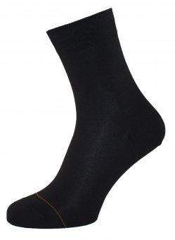 Chaussettes en coton avec coté intérieur en cachemire noir
