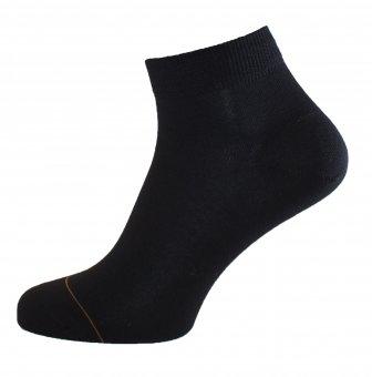 Chaussettes sport sneaker coton avec coté intérieur en cachemire noir