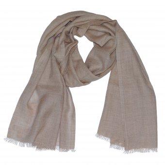 Écharpe en laine cachemire bio pour homme et femme couleur beige nature  200 x 65 cm
