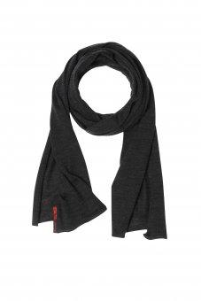 Écharpe en laine mérinos et soie pour homme et femme couleur gris anthracite 40 x 200 cm