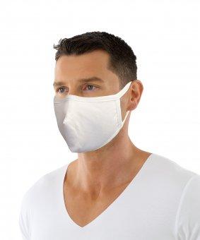 Masque double couche réutilisable – coton bio avec clip en metal Lot de 5