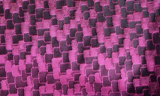 Foulard en soie Bordeaux, Violet - ton sur ton, Dessin 200036