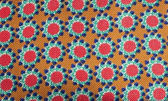 Pochette de costume / mou choir Rouge, Jaune, Vert, Bleu - Fleurs, Dessin 200061