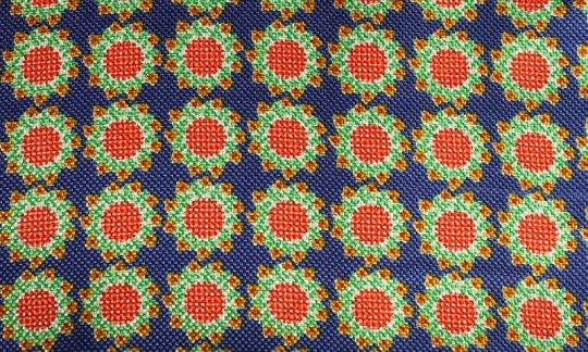 Ceinture de smoking Rouge, Jaune, Vert, Bleu - Fleurs, Dessin 200062