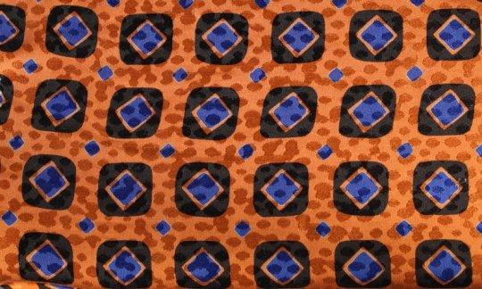 Ceinture de smoking Bleu, Noir, Orange - Carreaux, Dessin 200083
