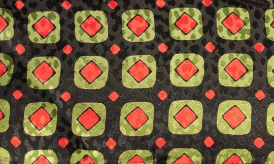 Lavallière Rouge, Vert, Noir- Carreaux, Dessin 200090