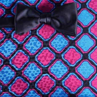 Nœud papillon Rouge, Bleu, Noir- Carreaux, Dessin 200092
