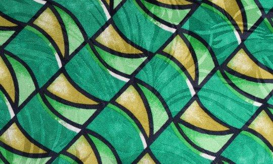 Lavallière Jaune, Vert, Noir, Blanc - à motifs, Dessin 200104