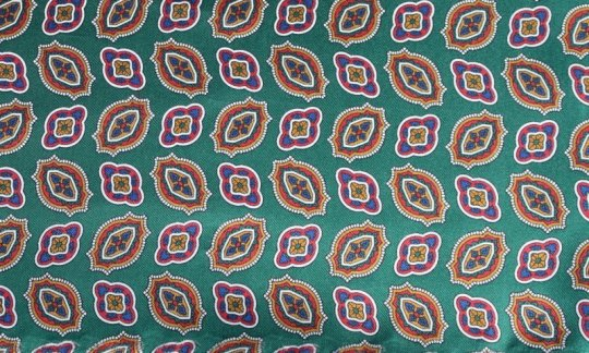 Cravate Vert, Or, Bleu - à motifs, Dessin 200133