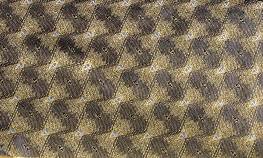 Pochette de costume / mou choir Jaune, Noir- à motifs, Dessin 200159