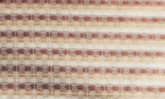 Foulard en soie Or, Marron, Crème - Streifen, Dessin 200178