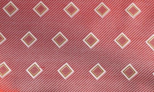 Foulard en soie Rouge, Jaune, Argent, Blanc - Carreaux, Dessin 200192