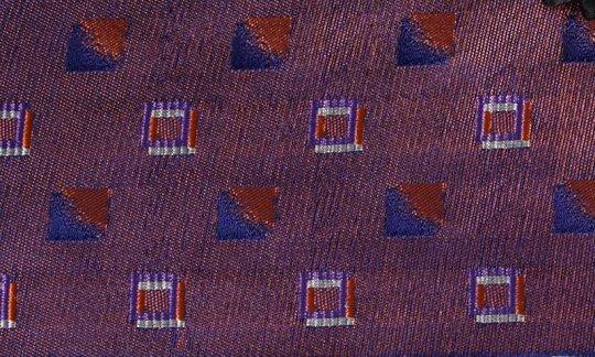 Pochette de costume / mou choir Rouge, Bleu marine, Bordeaux, Terre cuite - Carreaux, Dessin 200196