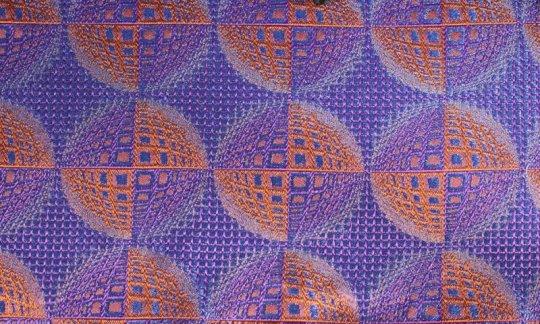 Ceinture de smoking Bleu, Bleu marine, Orange, Terre cuite - à motifs, Dessin 200208
