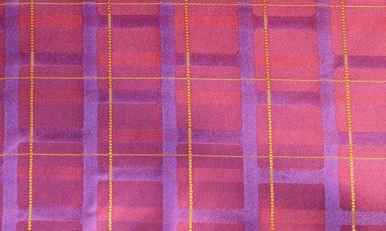 Foulard en soie Rouge, Jaune, Lilas, Bordeaux, Violet - Streifen, Dessin 200212