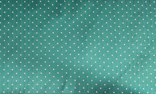 Foulard en soie Vert, Argent, Turquoise- À pois, Dessin 200220