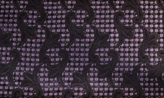 Lavallière Noir, Marron, Rose - Fleurs, Dessin 200242
