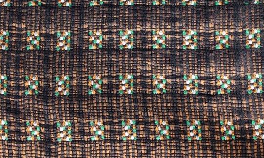 Foulard en soie Vert, Or, Noir- à motifs, Dessin 200243