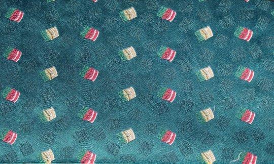 Pochette de costume / mou choir Rouge, Jaune, Vert, Turquoise- à motifs, Dessin 200247