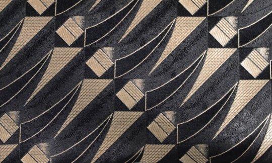 Foulard en soie Or, Noir- à motifs, Dessin 200254