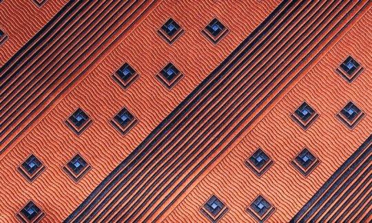 Pochette de costume / mou choir Marron, Gris - à motifs, Dessin 200266