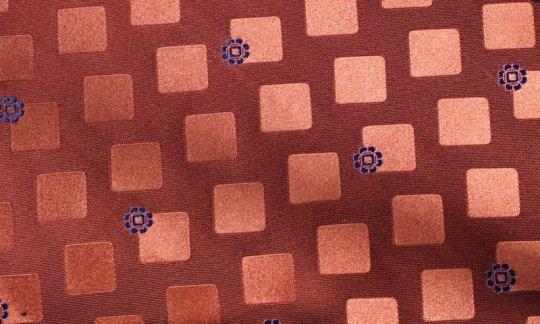 Pochette de costume / mou choir Jaune, Bleu marine, Orange - Carreaux, Dessin 200270