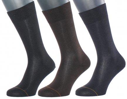 Chaussettes élégantes coton avec côté intérieur en cachemire
