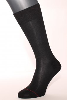 Chaussettes élégantes en coton noir avec fil d'argent - anti-transpirant Noir, Taille 42-44