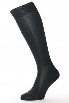 Chaussettes montantes mi bas fil d'Écosse noir