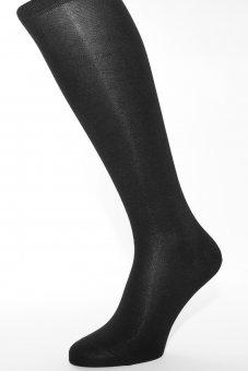 Chaussettes mis-bas élégants noirs en coton avec côté intérieur en cachemire 39-41