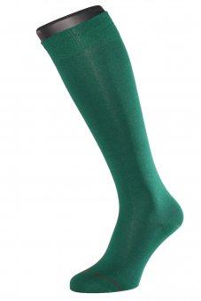 Chaussettes montantes mi bas fil d'Écosse vert