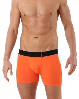 Boxer ajusté orange en microfibre