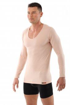 Maillot de corps invisible col v manches longues en coton stretch S