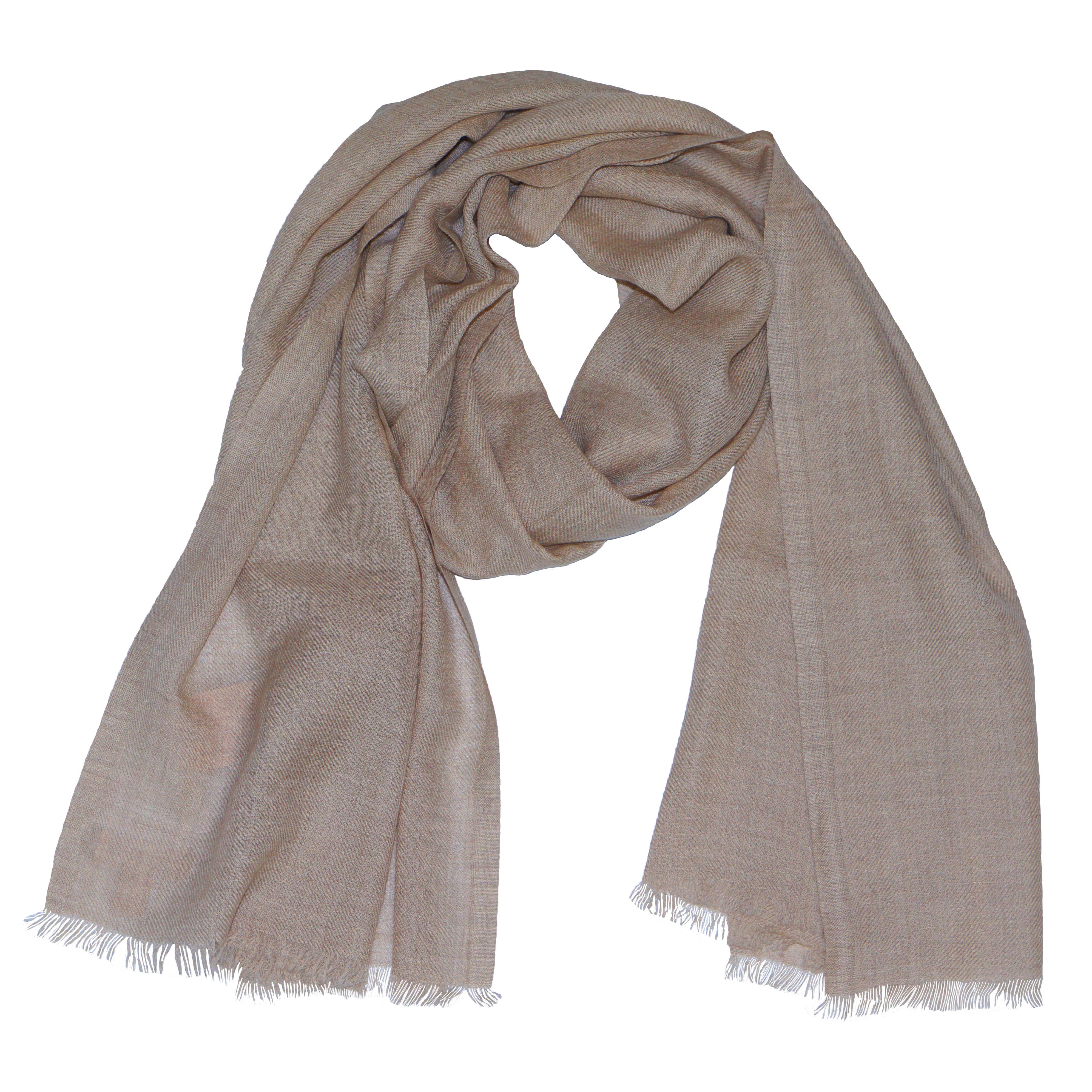 charpe en laine cachemire bio pour homme et femme couleur beige nature 200 x 65 cm albert kreuz. Black Bedroom Furniture Sets. Home Design Ideas
