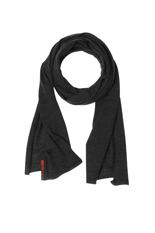 Écharpe en laine mérinos et soie pour homme et femme couleur gris  anthracite 40 x 200 3de75bb8d36