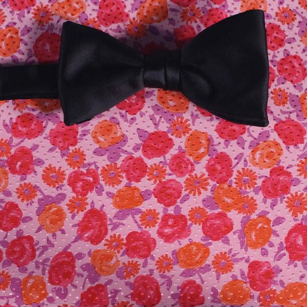 Nœud Papillon Rouge Orange Rose Fleurs Dessin 200067 Albert Kreuz